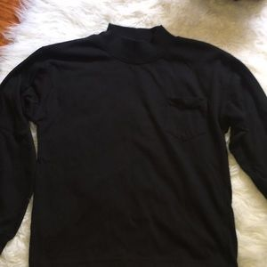 Black turtle neck sweater!
